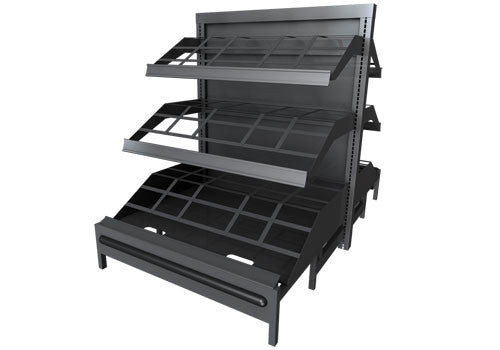 3SWS<p>3 shelf metal display with storage