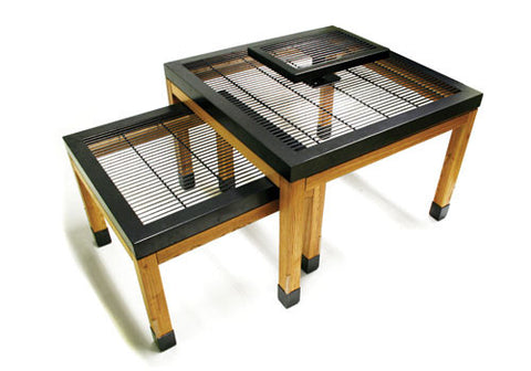 nesting bakery tables + pedestal<p>BAK-NEST