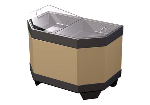 BL302<p>two compartment half bin