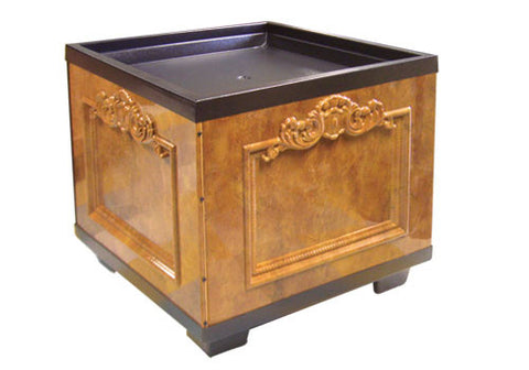 BLS36-G1<p>ornate plastic bin with faux granite sides