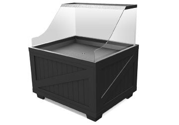 ice bin with sneeze guard<p>BLS4840-ICE