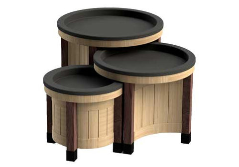 round orchard bin set - dark legs<p>BLWCIR-DL