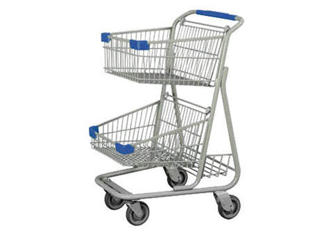 CED 2E02-E<p>double basket shopping cart