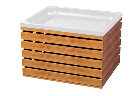 CR101 | CR102<p>slatted wood produce crate and plastic liner