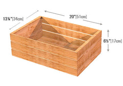 stained wood crate | dummy insert<p>CR103 | CR103D