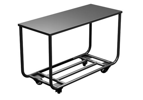 four wheel merchandise cart<p>CRT101