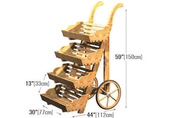 upright 4-tier pushcart<p>DC108