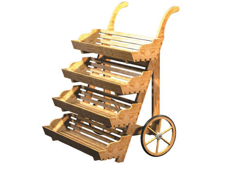 upright 4-tier pushcart<p>DC110