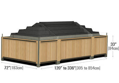 modular wooden produce table<P>DT2010C