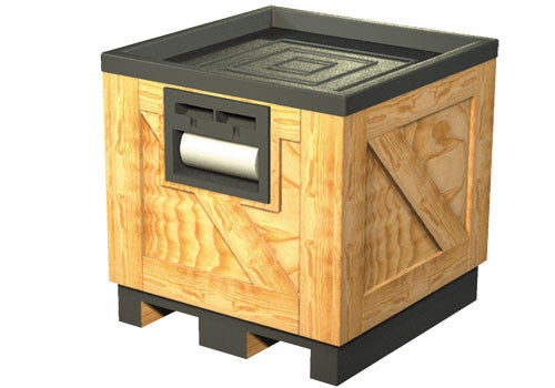 Wood Orchard Bin with Pallet Jack Access - DTW201B