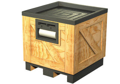 wood orchard bin with pallet jack access<p>DTW201B
