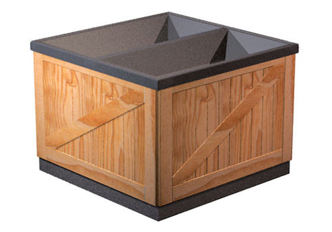 wooden orchard style bulk bin<p>DTW237