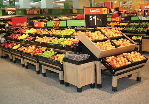 Orchard Table Produce Table Produce table riser Produce Signs Produce Merchandising Produce accessories Euro Table Euro Table Risers Metal