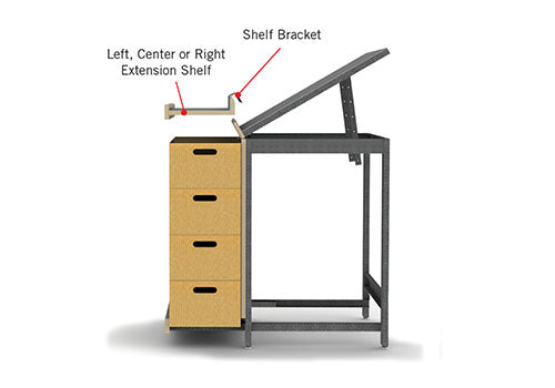 "72"" Left Extension Shelf [EU45-EXT-6L]"