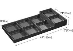 eight compartments euro tray<p>EUT106