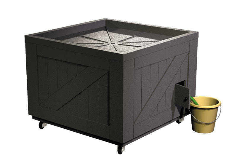 plastic orchard bin style ice table<p>ITP200