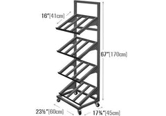 1 sided four shelf mobile display<p>METTBL-124H
