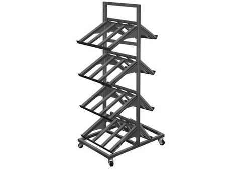 METTBL-224H<p>2 sided four shelf mobile display