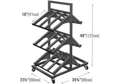 2 sided three shelf mobile display<p>METTBL-224