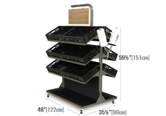 METTBL-248H<p>contemporary four shelves metal display