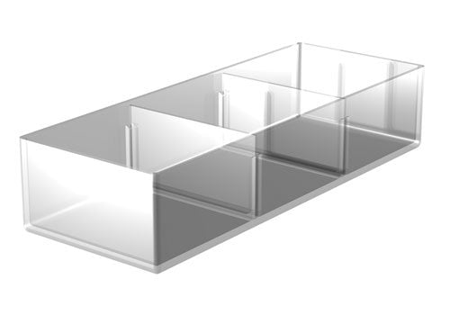 clear divided produce tray<p>MP25