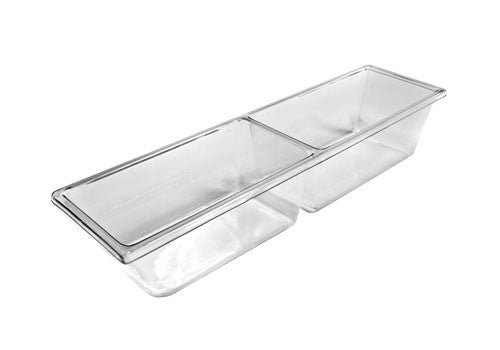 two compartment molded clear pan<p>MP7K