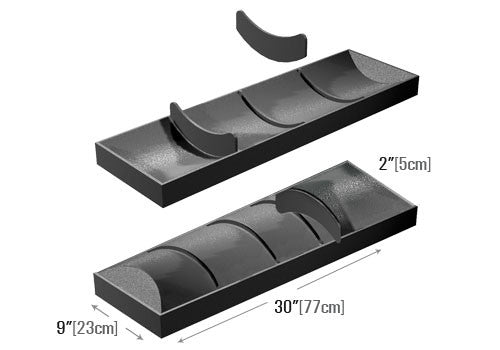 Four Compartment Tray + Removable Dividers [MT44]