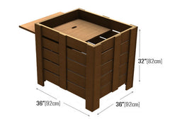 slat sided 4-level square bin<p>OBW363632