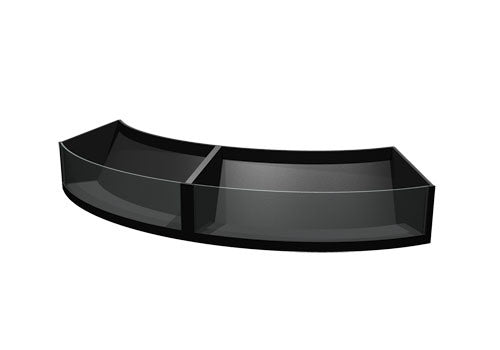 "PR22CX<p>11.5"" high convex curved shelf insert with clear front"