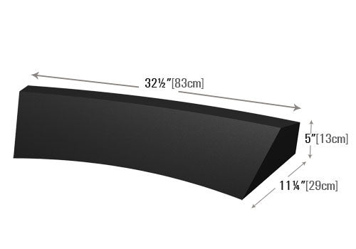 "5"" High Concave Curved Shelf Insert Dummy [PR23CNS]"