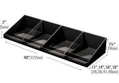 shelf organizer with low clear front<p>PR75W