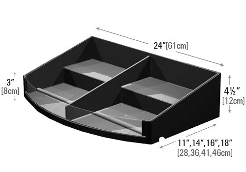 Curved Front Stepped Shelf Organizer [PR77C]