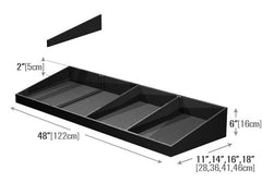 PR79D<p>shallow low profile shelf organizer