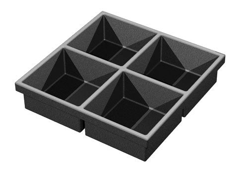 four compartments euro tray<p>PT664