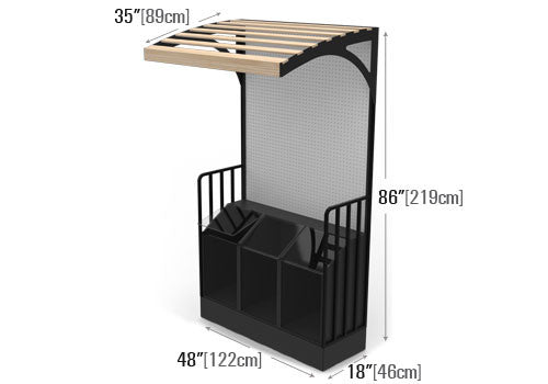 High Profile Packaged Spice Rack [SP173-Canopy]