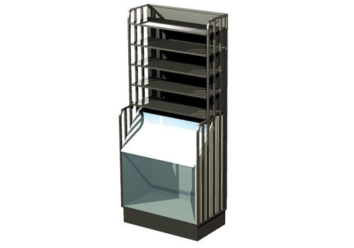 38 inches wide steel bulk display with shelves<p>SP174