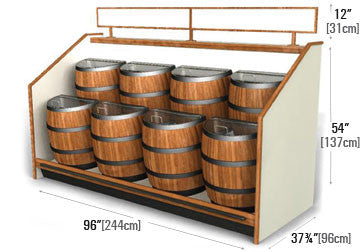 Barrels Floor Unit Display Fixture [SR02]