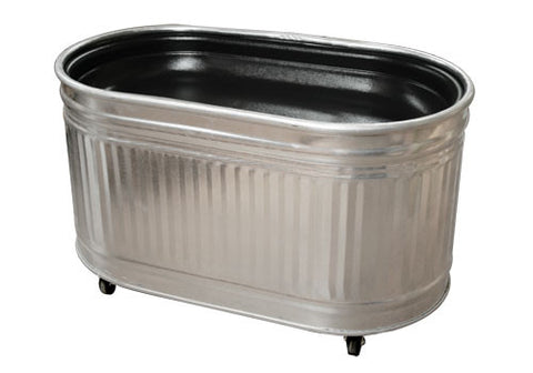 oval galvanized bin with inset plastic liner<p>STO4-I