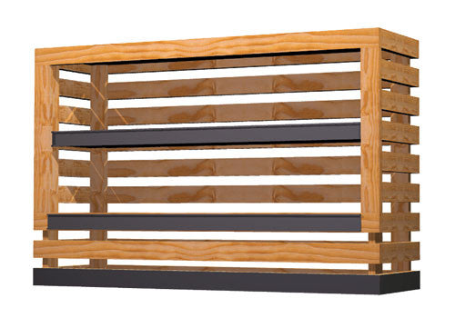 slat sided produce extender with shelves<p>WXP15-S
