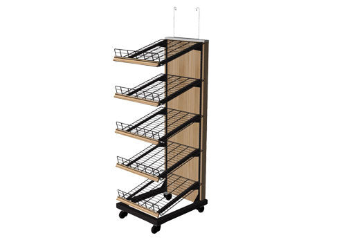 5 shelf steel frame bakery display<p>BAK5700