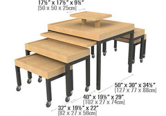 contemporary tables with metal legs and casters<p>BLS-TABLE
