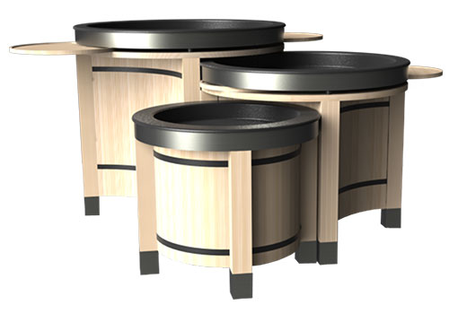 round orchard bin set - metal caps<p>BLWCIR-MC