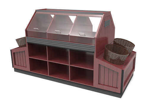 bakery display with baskets<p>BR321