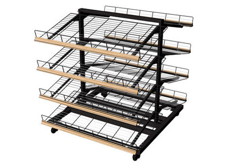 4 shelf steel frame bakery display<p>MET435C