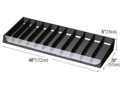 clear front 11 slot shelf organizer<p>PR179