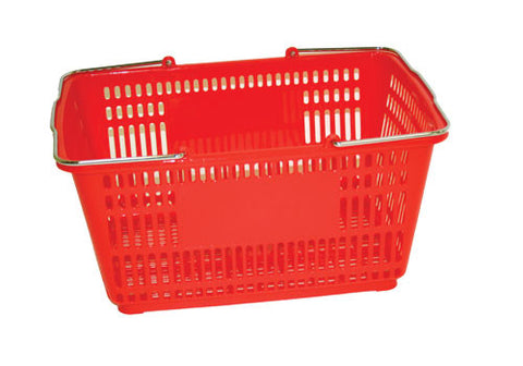 SPB-RED<p>plastic shopping basket