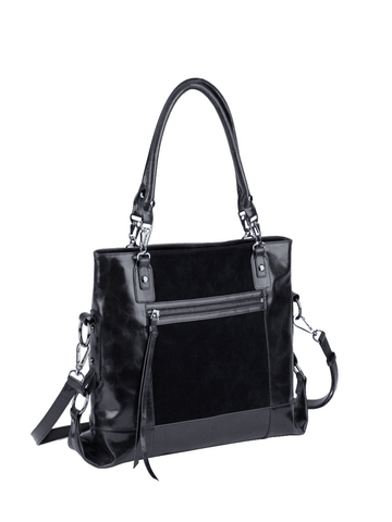 EUNOIA dual-textured shoulder bag