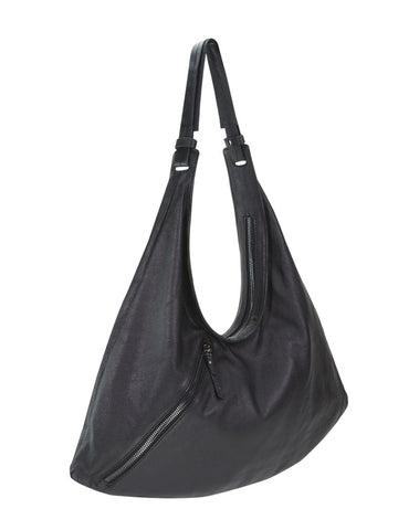 MERAKI asymmetrical zipper shoulder bag