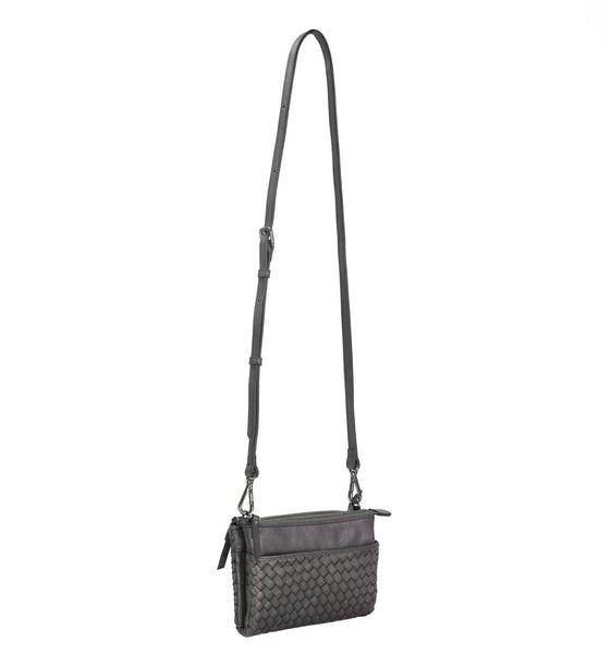 c1124f5f7d001 ... MOFE Leather Handbag Sonder Woven Crossbody Wallet Purse Organizer With  Built In Wallet, Strap, ...