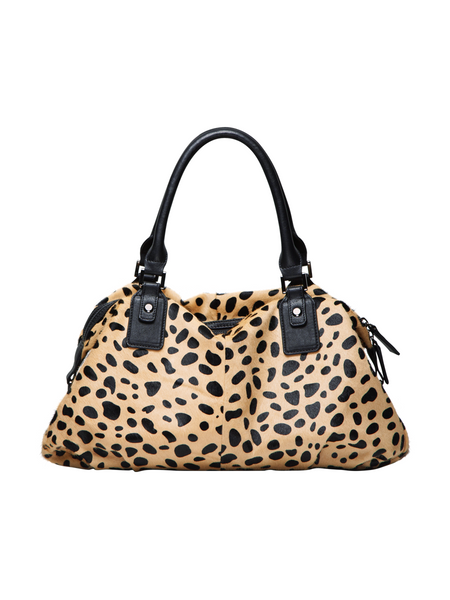 4dccb8e17982 MOFE Leather Handbag Urbane Top Handle Satchel Crossbody Bag With Strap  Cheetah Leopard Animal Print ...
